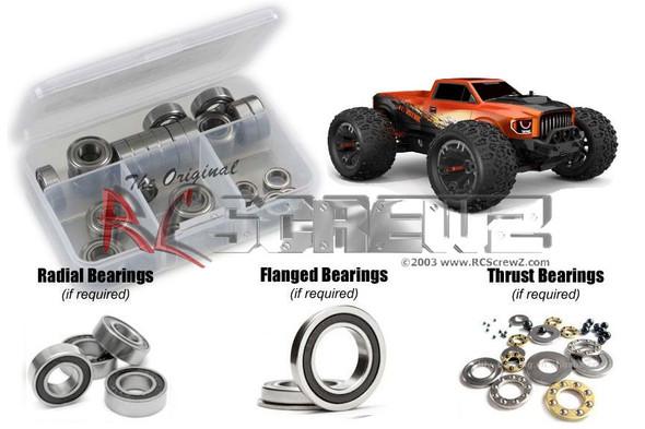 RC Screwz RCR062R RedCat TR-MT10e Rubber Shielded Bearings Kit