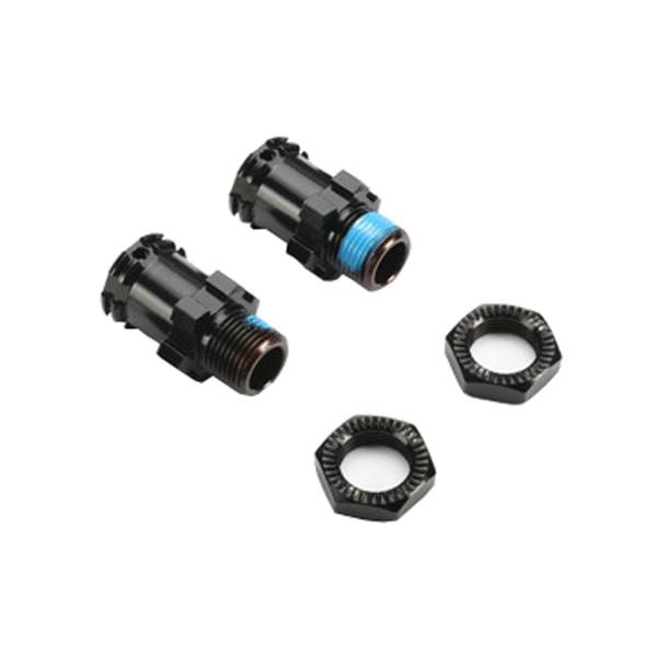 Redcat 505231BK-15 Alum Wheel Hex w/ Nuts (2pcs ea.) Blk : TR-MT8E / TR-MT8E-V2