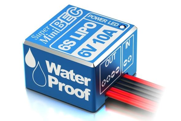 Sky RC Super mini 6S Lipo 6V 10A BEC Voltage Regulator Waterproof Alum Case