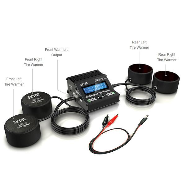 SKYRC RSTW PRO Professional Tire Warmer 12-18V DC Input SK-600064-04