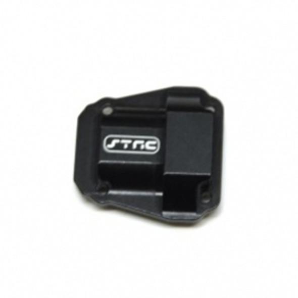 STRC STV232075BK Alum. Diff Cover : Vaterra Ascender / Bronco Truck Black