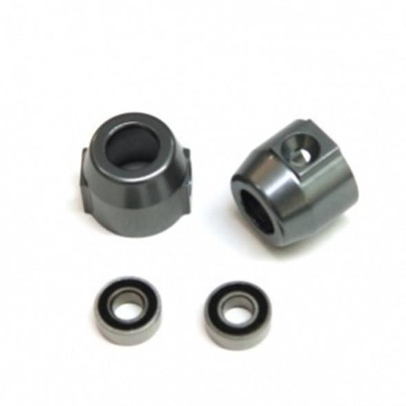 STRC STV334020GM Alum. Rear Lock-outs (1Pr) : Vaterra Ascender Gun Metal