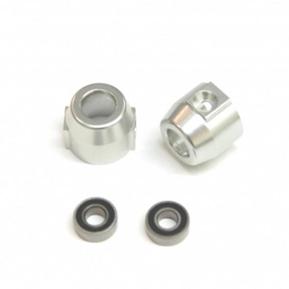 STRC STV334020S Alum. Rear Lock-outs (1Pr) : Vaterra Ascender Silver