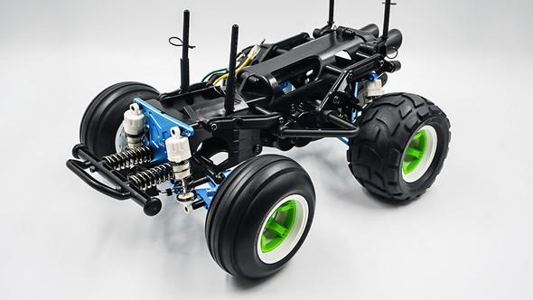 Yeah Racing TAWR-S02BK Aluminum Performance Upgrade Kit : Tamiya WR02CB Black