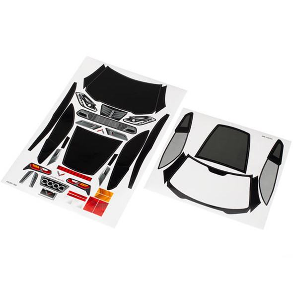 Traxxas 8387 Body Decal Sheets Chevrolet Corvette Z06 / 4-Tec / Ford GT