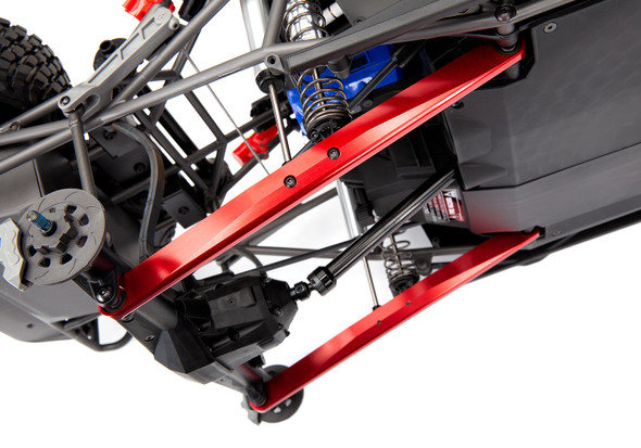 Traxxas 8544R Aluminum Trailing Arm Red (2) Assembled w/ Hollow Balls : UDR