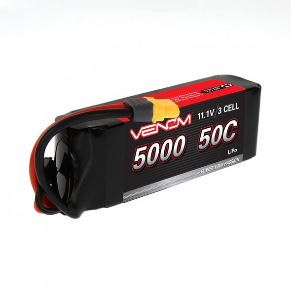 Venom 15059 DRIVE LiPo Battery 3S 11.1V 5000mAh 50C HC ROAR w/ Universal 2.0 Plug