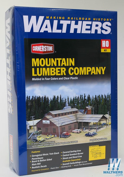 Walthers 933-3058 Mountain Lumber Company Sawmill Kit : HO Scale
