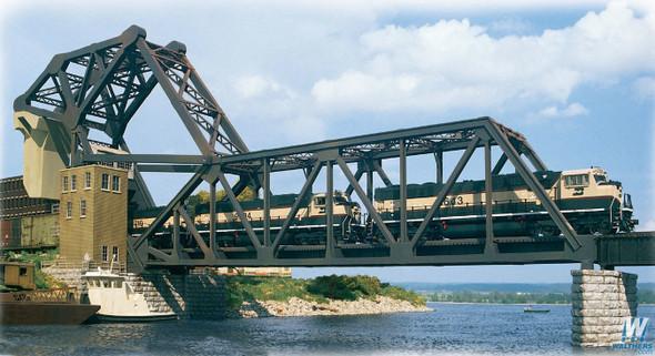 Walthers 933-3070 Operating Single-Track Railroad Bascule Bridge Kit : HO Scale