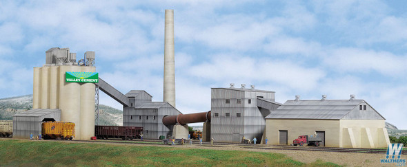 Walthers 933-3098 Valley Cement Plant Kit : HO Scale