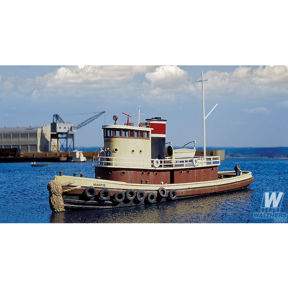 "Walthers 933-3153 Railroad Tugboat Kit - 13 x 3-1/2 x 3-7/8"" : HO Scale"