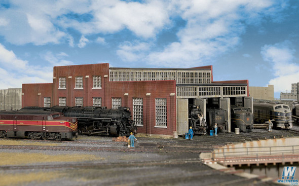 Walthers 933-3261 Modern Roundhouse 3 Add-On Stalls Kit : N Scale