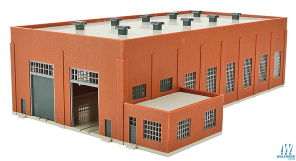 Walthers 933-3266 Two-Stall 130' Brick Diesel House Kit : N Scale