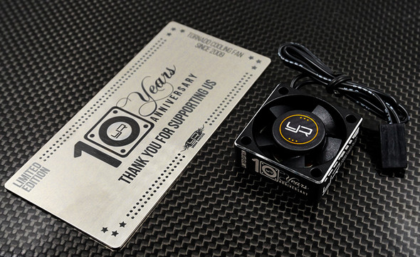 Yeah Racing YA-0180-10th Tornado 10th Anniversary Limited Edition Aluminum Case Cooling Fan