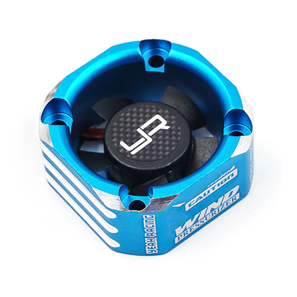 Yeah Racing YA-0576BU Aluminum Case 30mm Booster Cooling Fan Blue