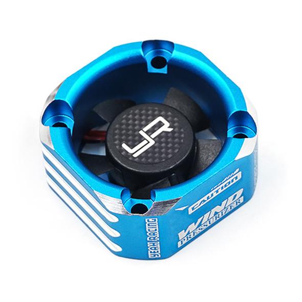 Yeah Racing YA-0576BU Aluminum Case 30mm Booster Cooling Fan Blue