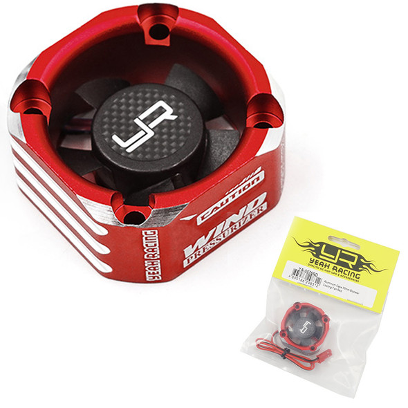 Yeah Racing YA-0576RD Aluminum Case 30mm Booster Cooling Fan Red