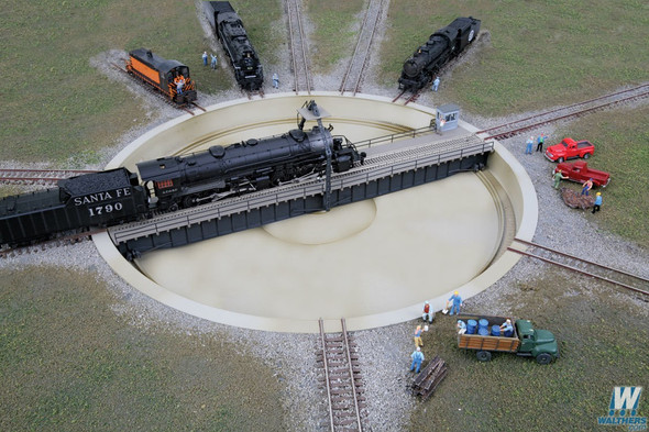 """Walthers Motorized 130' Turntable Assembled 10-3/8"""" Overall Diameter : N Scale"""