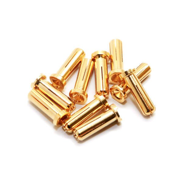 Maclan Racing MCL4042 MAX CURRENT 5mm Gold Bullet Connectors (10 pcs)