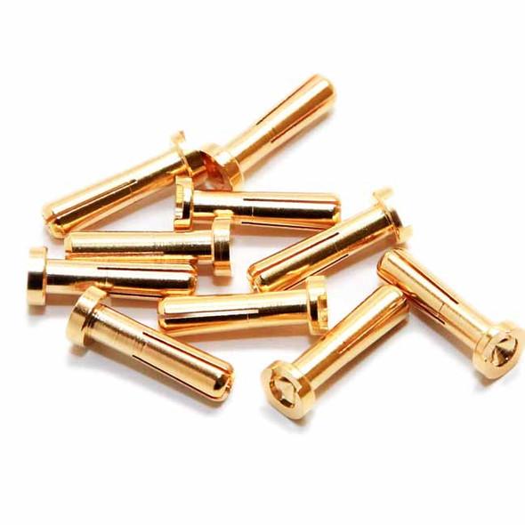 Maclan Racing MCL4052 MAX CURRENT 4mm Gold Bullet Connectors (10 pcs)