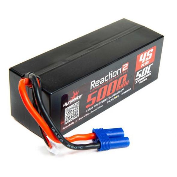 Dynamite DYNB5045H5 Reaction 2.0 14.8V 5000mAh 50C 4S Hardcase LiPo Battery EC5