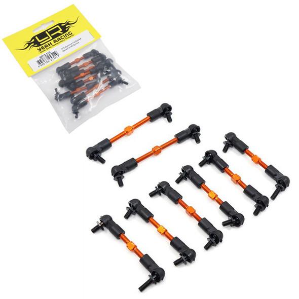 Yeah Racing SPT2-115OR 7075 Aluminum Assembled Tie Rod Set 8pcs For HPI Sprint 2