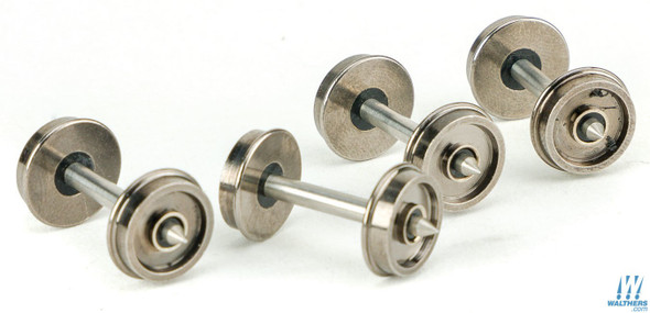 """Walthers Proto 920-2305 36"""" Turned Metal Wheelsets w/ Metal Axles Pkg (100) HO Scale"""