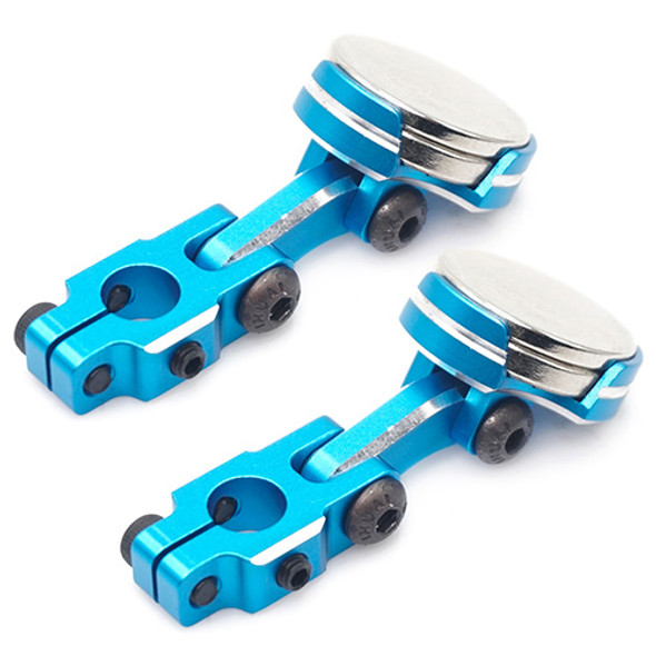 Yeah Racing YA-0531BU Alum CNC Magnetic Invisible Body Mounting System (2) Blue