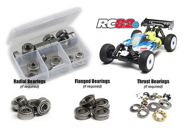 RC Screwz Precision Shielded Bearing Kit RC 8.2e ASS045B