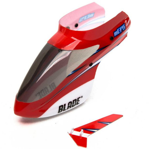 Blade BLH5103 Complete Red Canopy w/ Vertical Fin : mCP S