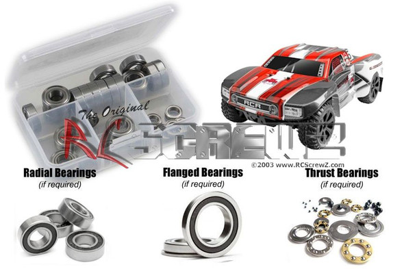 RC Screwz RCR045R RedCat Blackout SC Rubber Shielded Bearings Kit