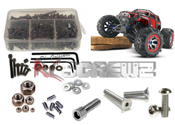 RC Screwz Stainless Steel Screw Kit Traxxas Summit TRA036