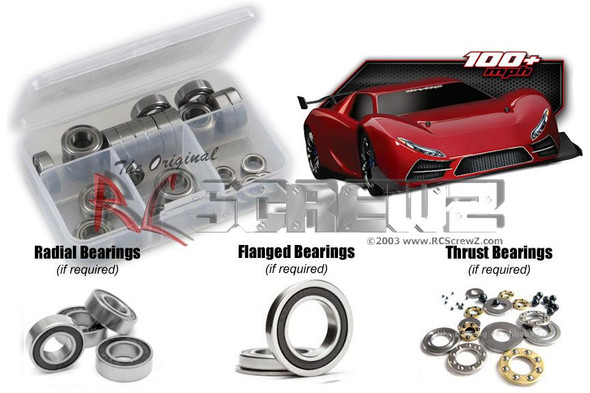 RC Screwz TRA047R Traxxas XO-1 Rubber Shielded Bearings Kit