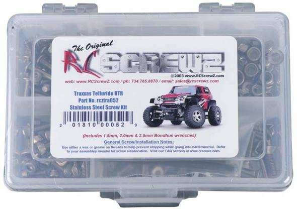 RC Screwz TRA052 Stainless Steel Screw Kit Telluride 4X4