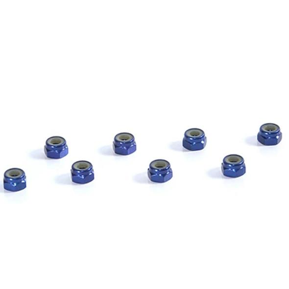 Tuning Haus TUH1068 4mm Aluminum Locknut (8) Dark Blue