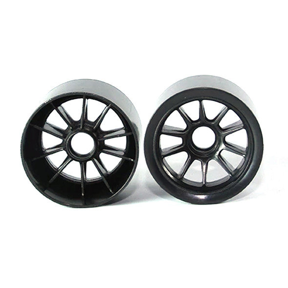 Tuning Haus TUH1179 F1 Foam Front Wheels (2) Black use w/ Shimizu Rubber