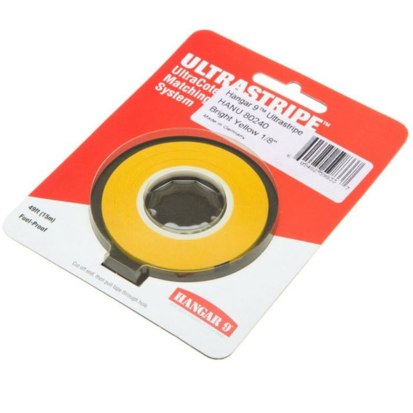 "Hangar 9 HANU80240 UltraStripe Bright Yellow 1/8"""