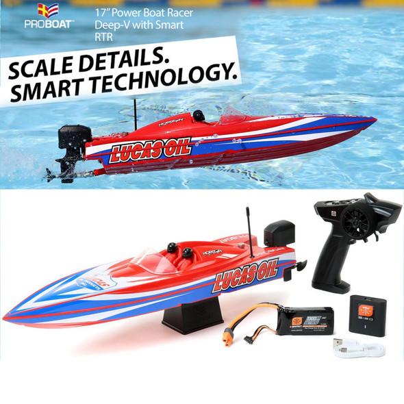"""Pro Boat PRB08044T2 17"""" Power Boat Racer Deep-V RTR Lucas Oil"""