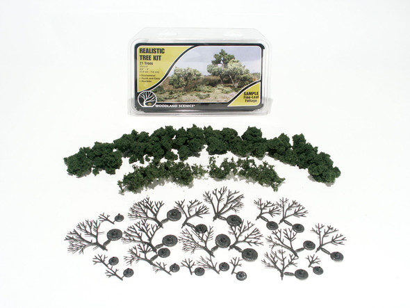 Woodland Scenics Medium Green Tree Kit 3/4x3in (21)