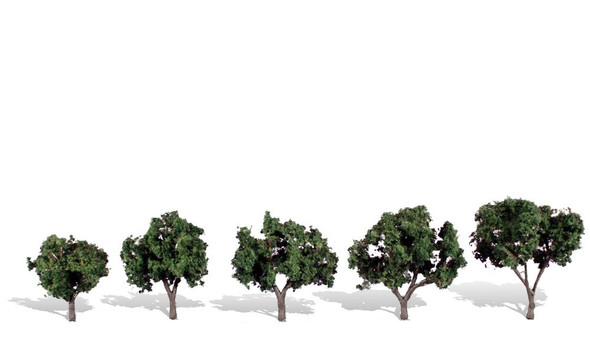 Woodland Scenics Cool Shade Trees 1 1/4-2in (5)