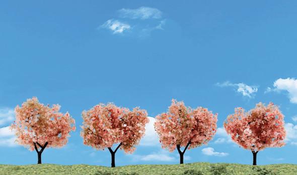 Woodland Scenics Flowering Trees 2-3in (4)