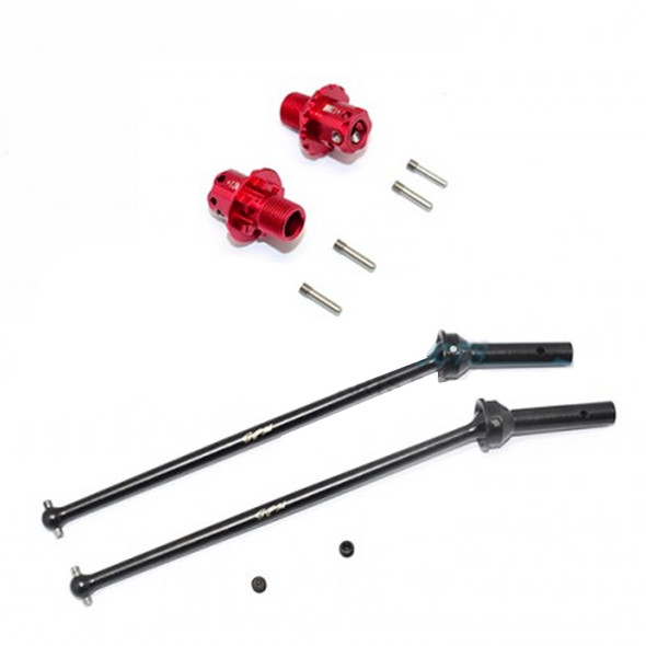 GPM Racing Alum Rear CVD+13mm Hex (10Pcs) Set Red : Arrma Kraton / Outcast