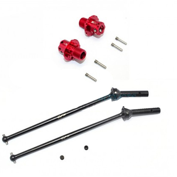 GPM Racing Alum Front CVD+13mm Hex (10Pcs) Set Red : Arrma Kraton / Outcast