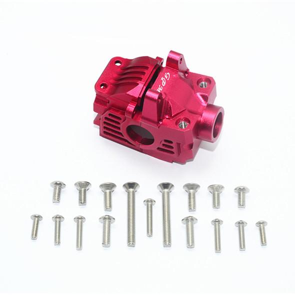 GPM Racing Aluminum Front Gear Box Red : Traxxas Rustler 4x4