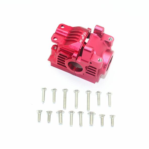 GPM Racing Aluminum Rear Gear Box Red : Traxxas Rustler 4x4