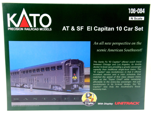 Kato 106084 Santa Fe El Capitan 10-Car Passenger Set N Scale