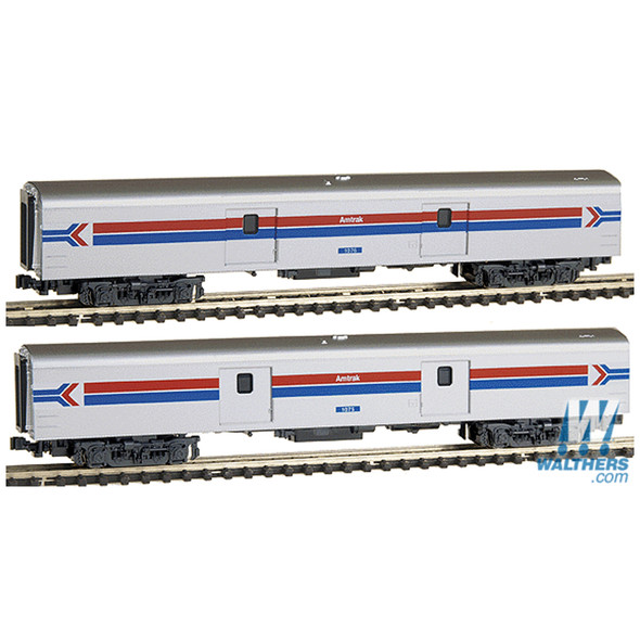 Kato 1063512 Amtrak Smoothside Baggage 2 Car Set - Set C -Phase I - N Scale