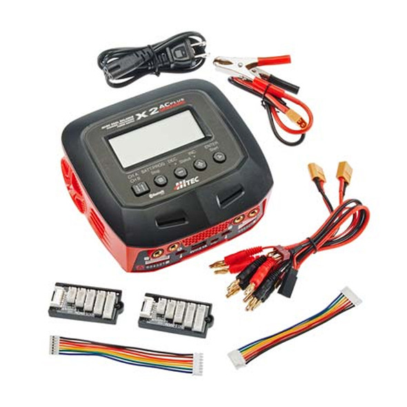 Hitec 44270 X2 AC Plus Black Edition AC/DC Balance Charger / Discharger Power Supply