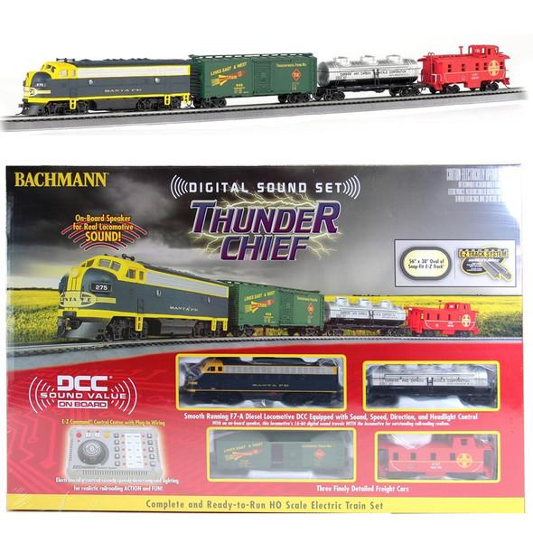 Bachmann 00826 Thunder Chief Electric Train Set w/ Digital Sound Set HO Scale