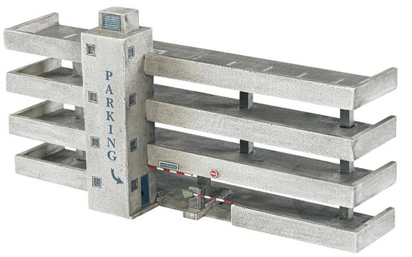 Bachmann Resin Front 4-Story Parking Garage N Train Building Facade 35053